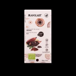 Chocolate Ecológico 70% cacao y azúcar de Coco (100g)
