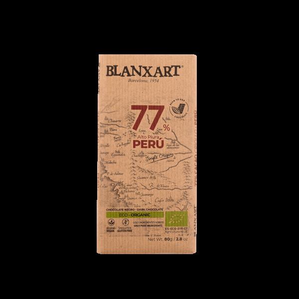 Chocolate Ecológico 77% cacao Perú (80g)