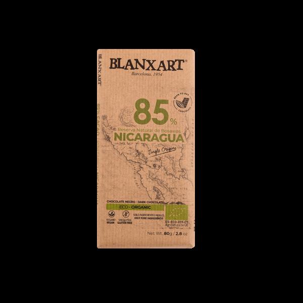 Chocolate Ecológico 85% cacao Nicaragua (80g)