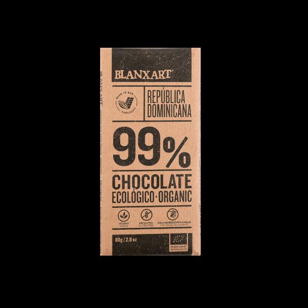 Chocolate Ecológico 99% cacao República Dominicana (80g)