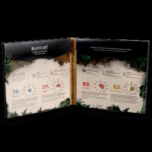 Estuche de cata Chocolate de Orígenes Únicos - Tasting Box (4x80g) abierto