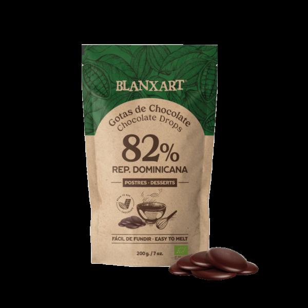 Gotas de Chocolate Negro 82% República Dominicana ECO (200g)