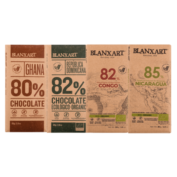 Pack Chocolates 80's % (4x80g)