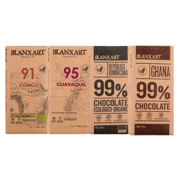 Pack Chocolates 90's % (4 x80g)